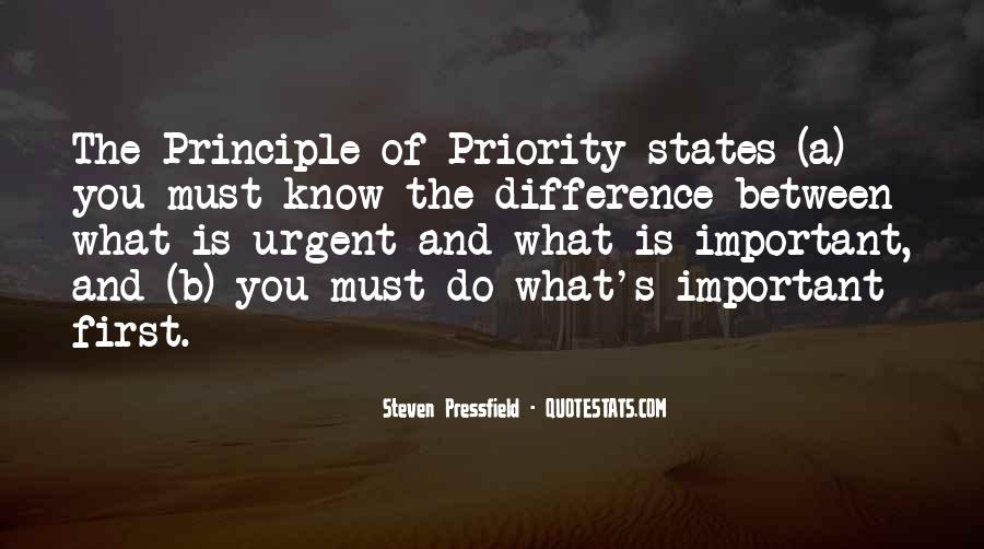 Not His Priority Quotes #42533