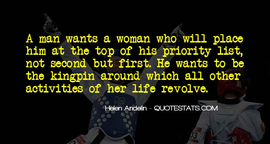 Not His Priority Quotes #483792