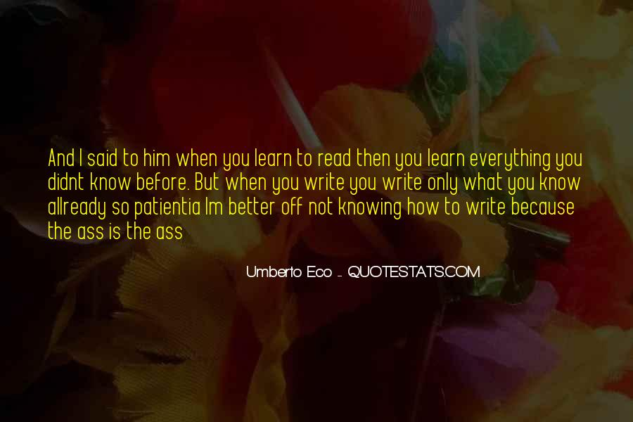 Not Knowing Everything Quotes #126968