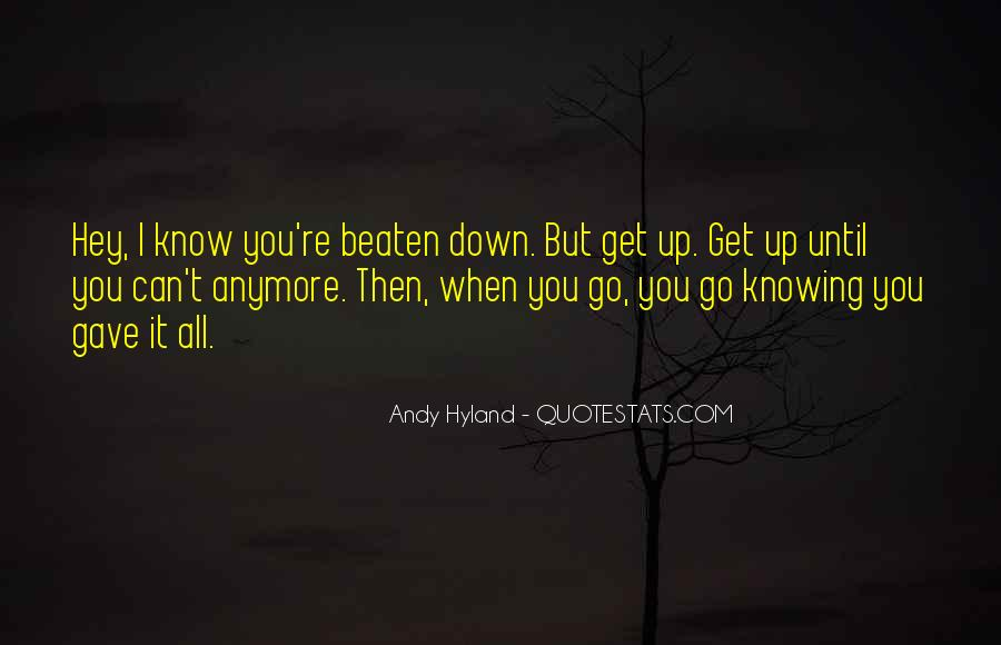 Not Knowing You Anymore Quotes #1153509