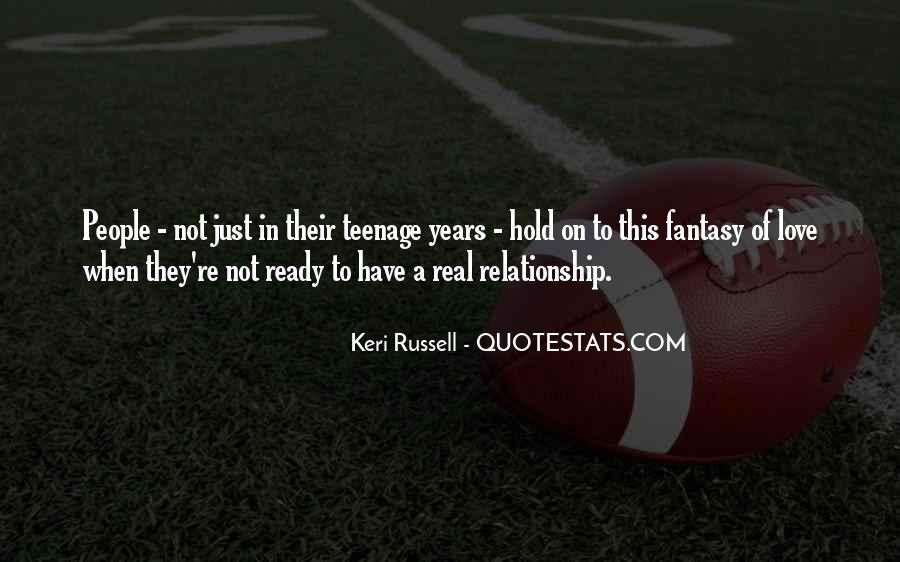 Not Ready In Relationship Quotes #1380378
