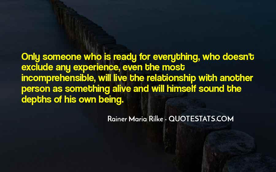 Not Ready In Relationship Quotes #1419193