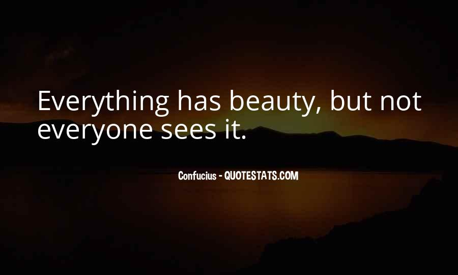 Not Seeing Beauty Quotes #1748707