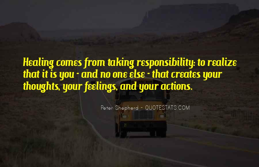Not Taking Responsibility For Actions Quotes #1760164