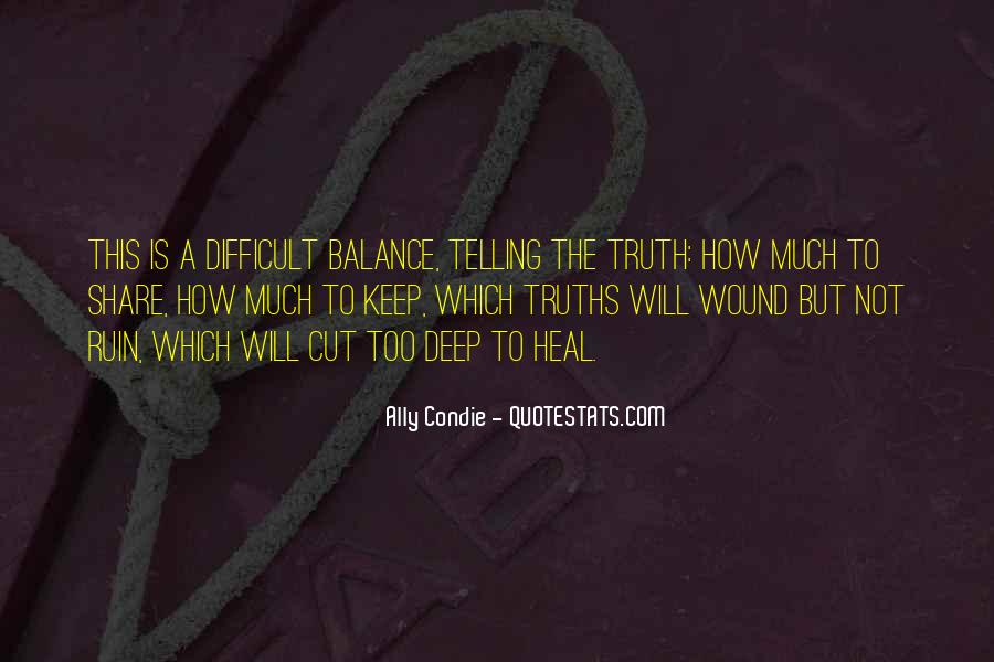 Not Telling Truth Quotes #1049640