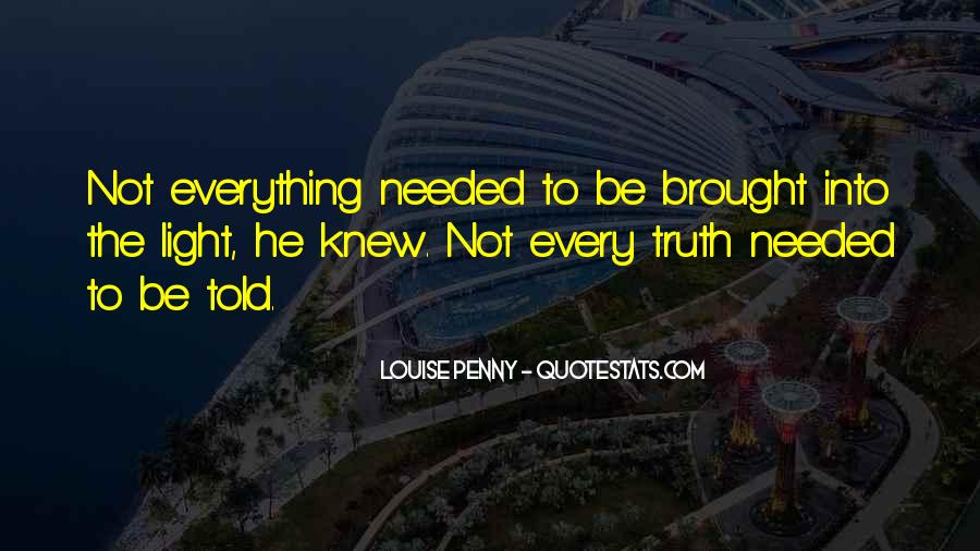 Not Telling Truth Quotes #1141362