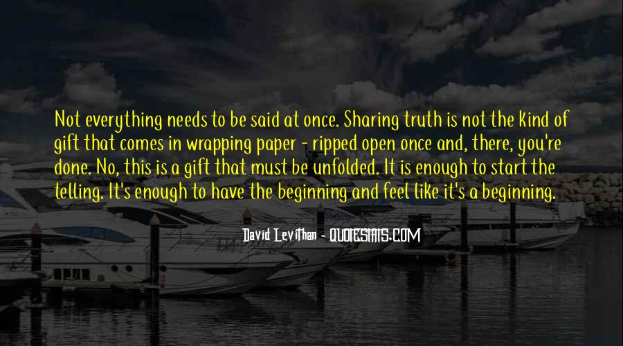 Not Telling Truth Quotes #977004