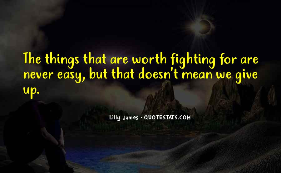 Not Worth Fighting Over Quotes #63532