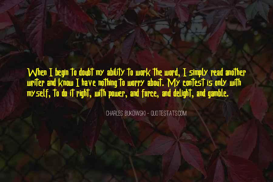 Quotes About Bukowski Work #1695082