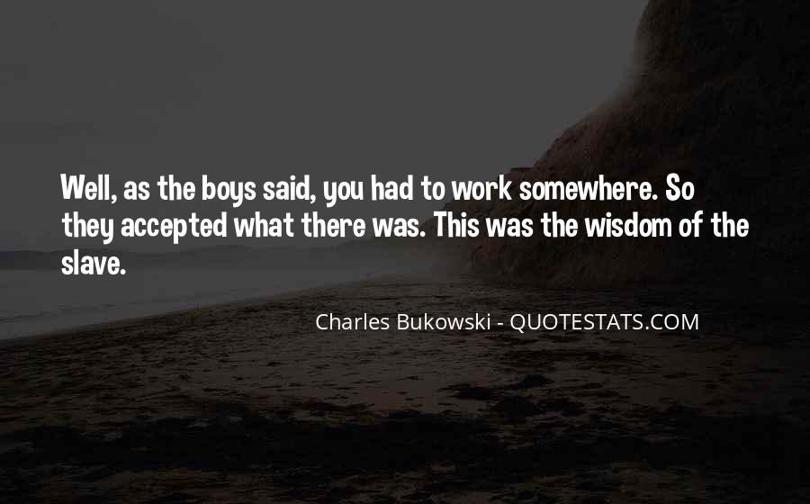 Quotes About Bukowski Work #234931