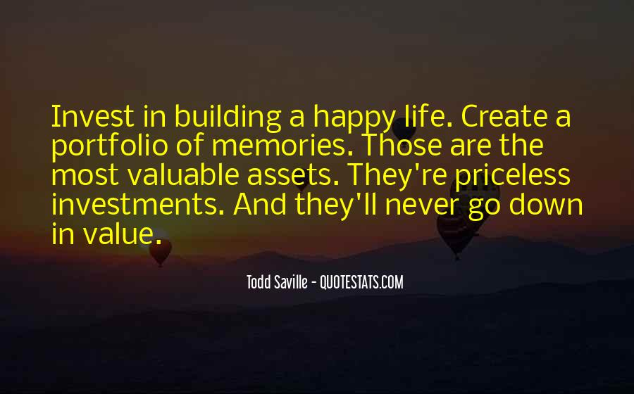Quotes About Building Memories #629454