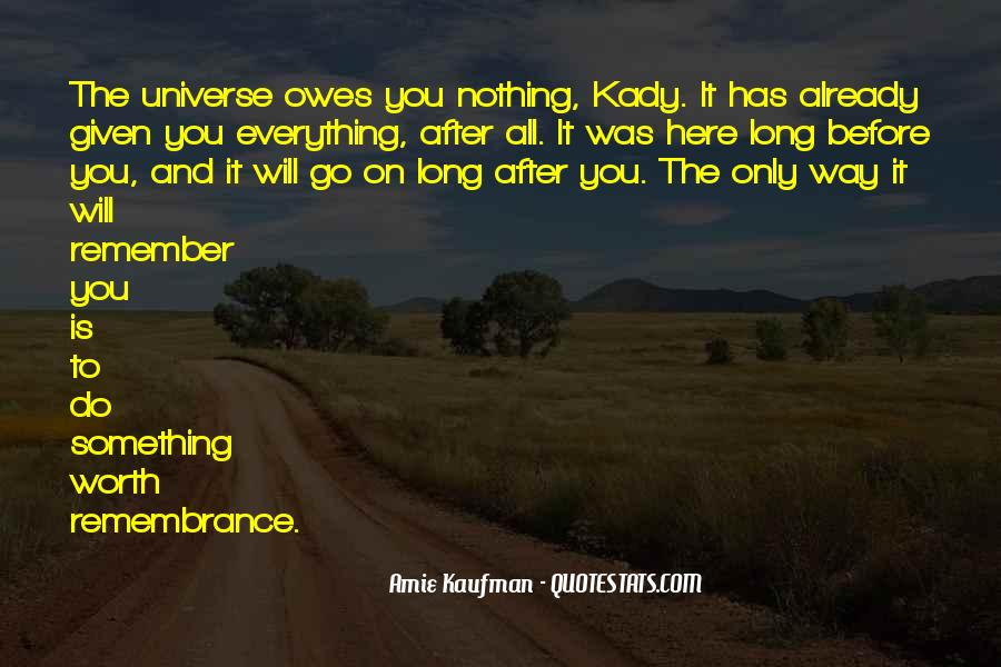 Nothing Is Given To You Quotes #601562