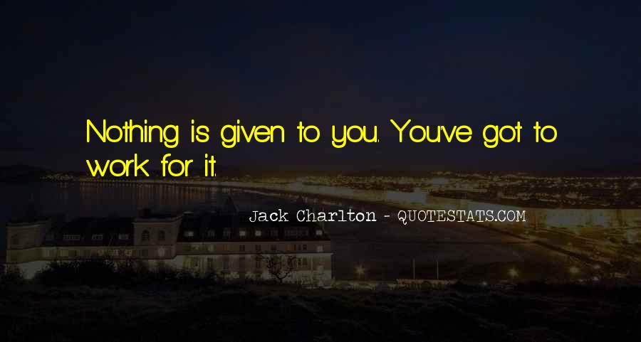 Nothing Is Given To You Quotes #906916