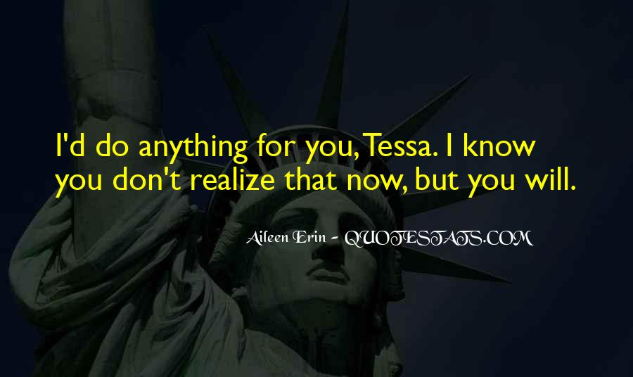 Now I Realize That I Love You Quotes #1808821