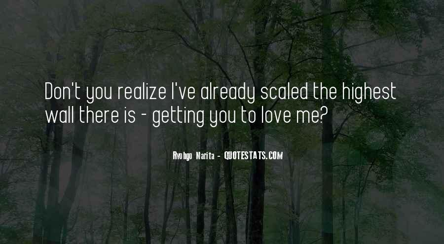 Now I Realize That I Love You Quotes #962