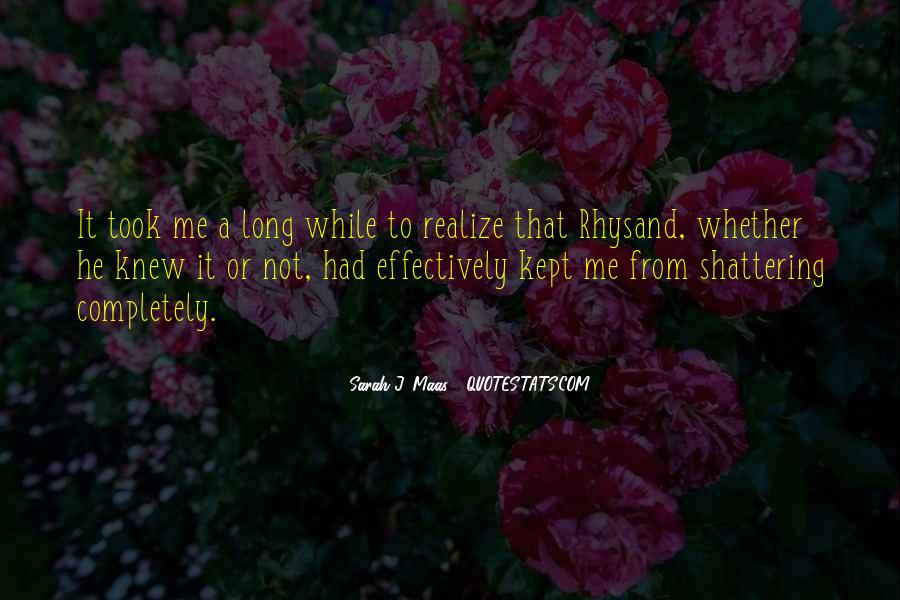 Now I Realize That I Love You Quotes #99745