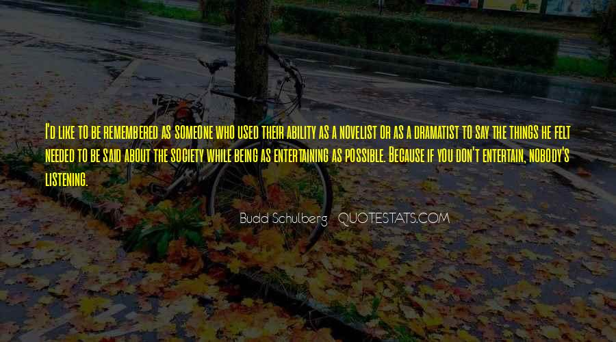 Quotes About Budd #622461