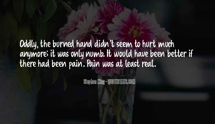 Numb To Pain Quotes #95921