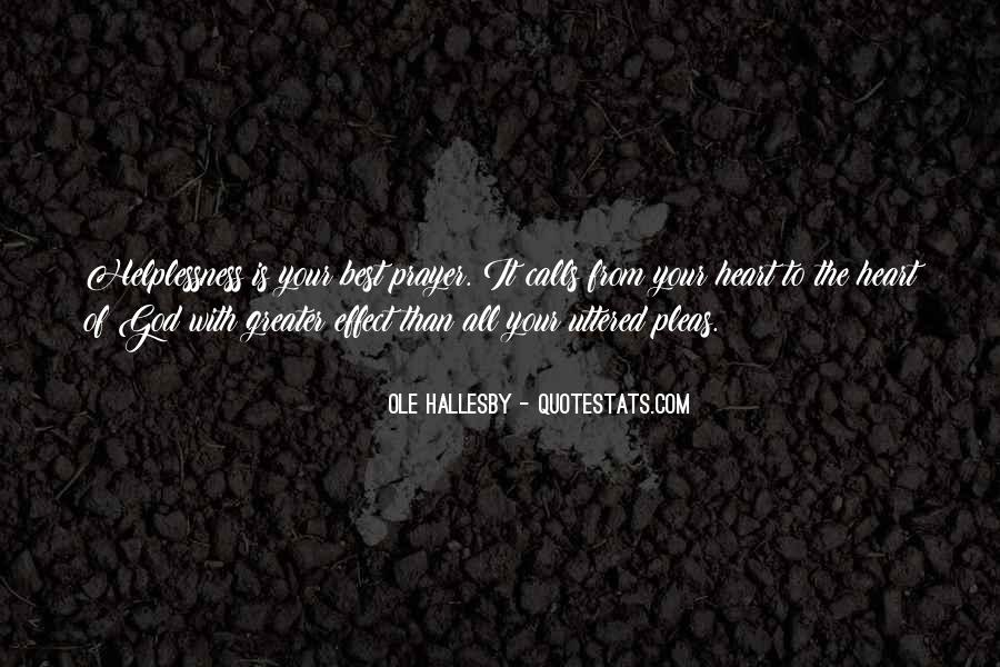 O Hallesby Quotes #1851323