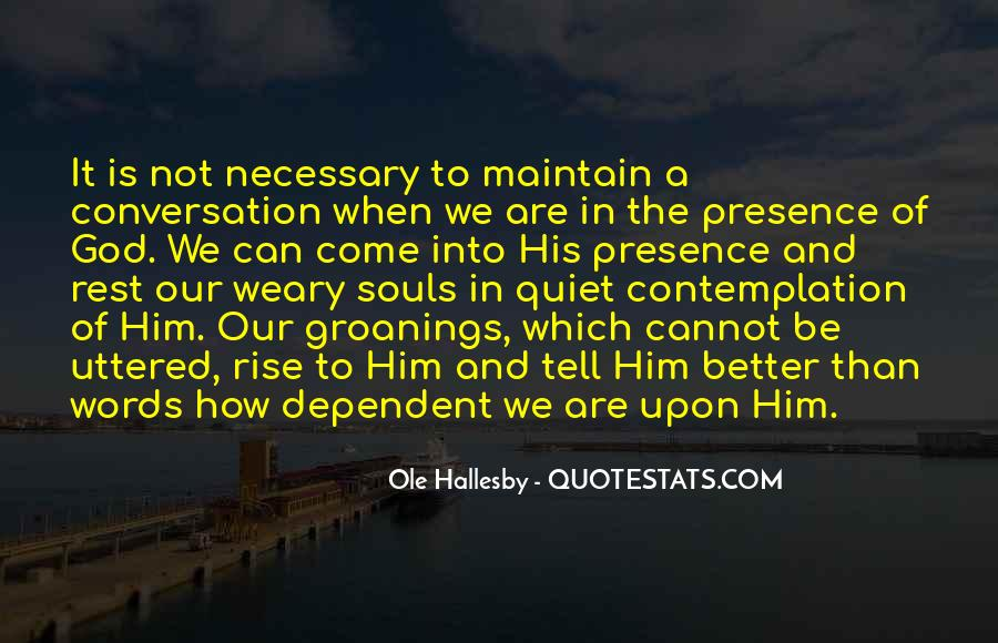 O Hallesby Quotes #1875546