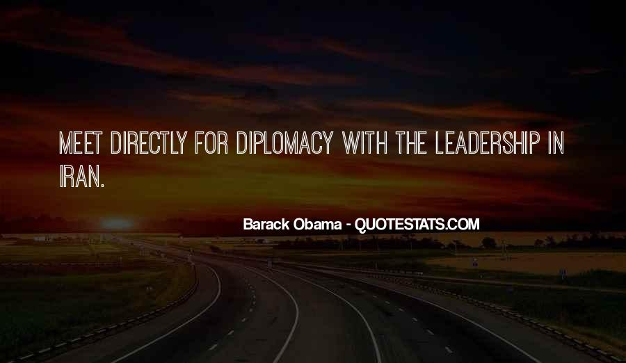 Obama Diplomacy Quotes #1590566