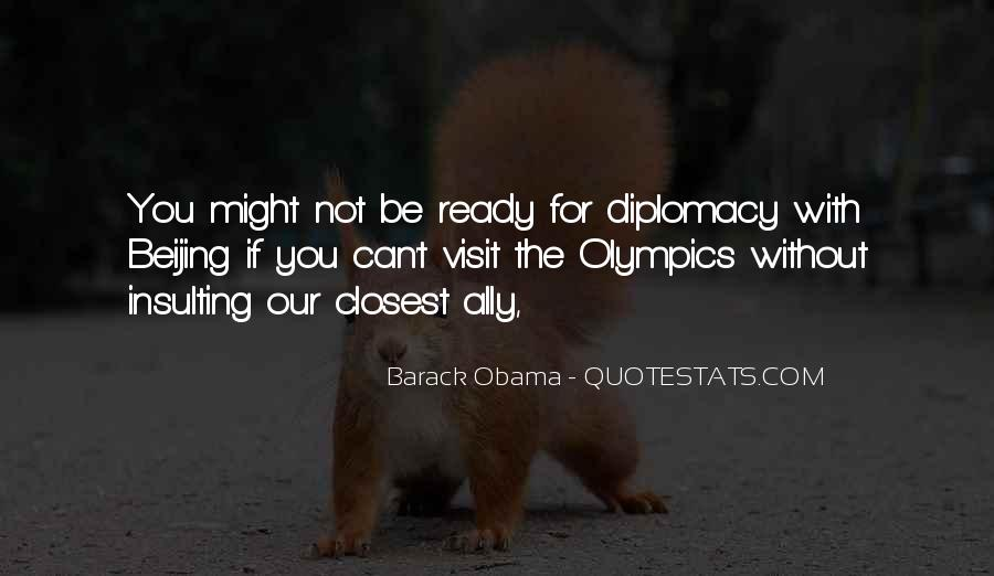 Obama Diplomacy Quotes #963292