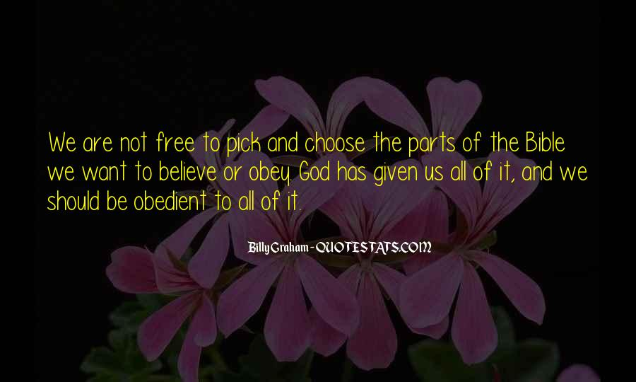 Obedient Bible Quotes #955176