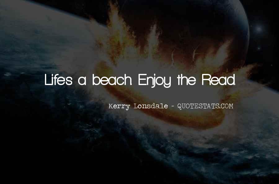 Off To The Beach Quotes #65952