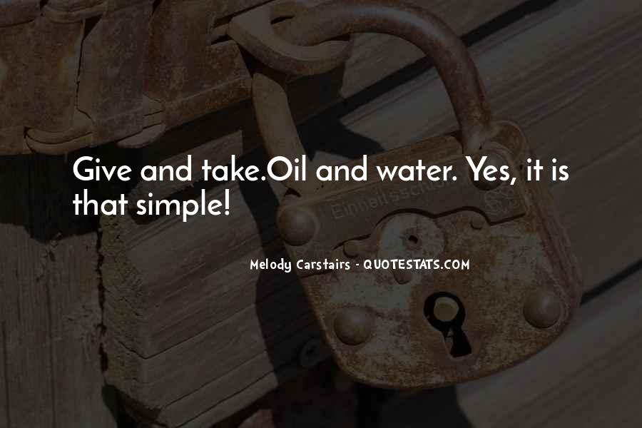 Oil And Water Love Quotes #1064543