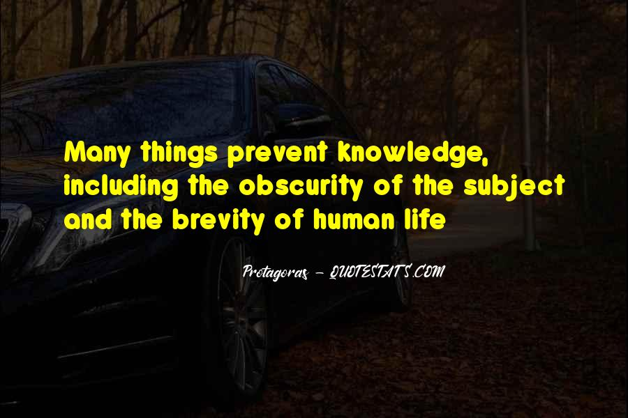 Quotes About Brevity Of Life #96837