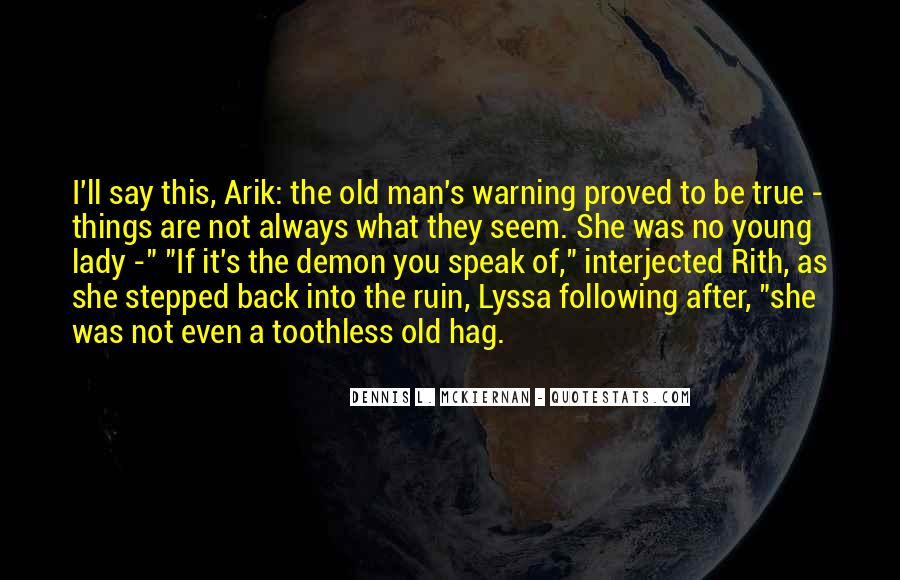 Old Man's Quotes #291286