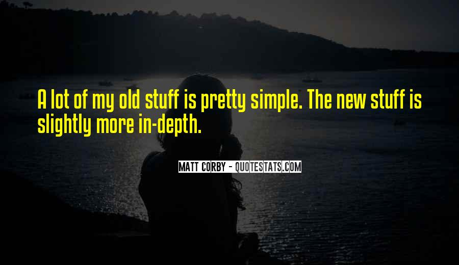 Old N New Quotes #1661