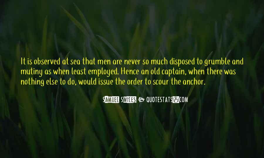 Old Sea Captain Quotes #1692031