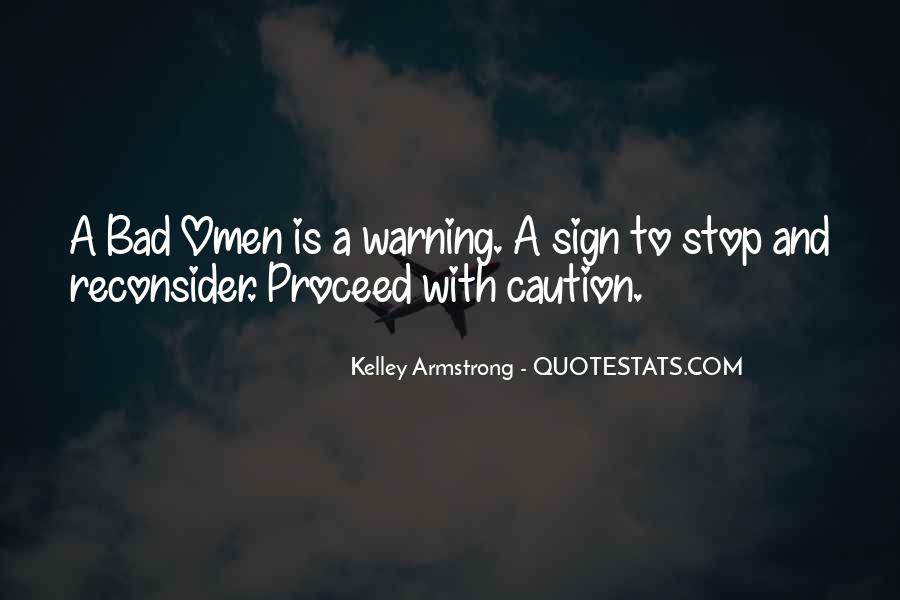 Omens Kelley Armstrong Quotes #1341384