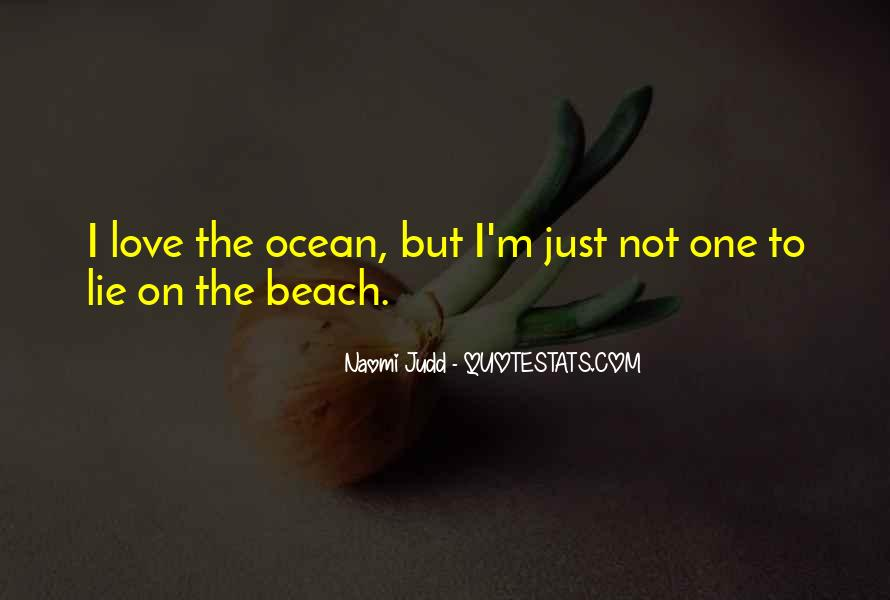 On The Ocean Quotes #352619