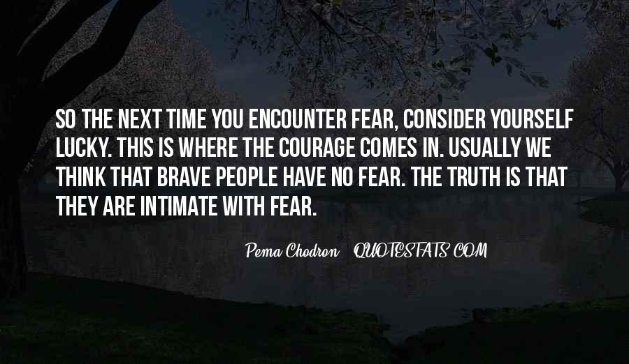 Quotes About Brave People #199558