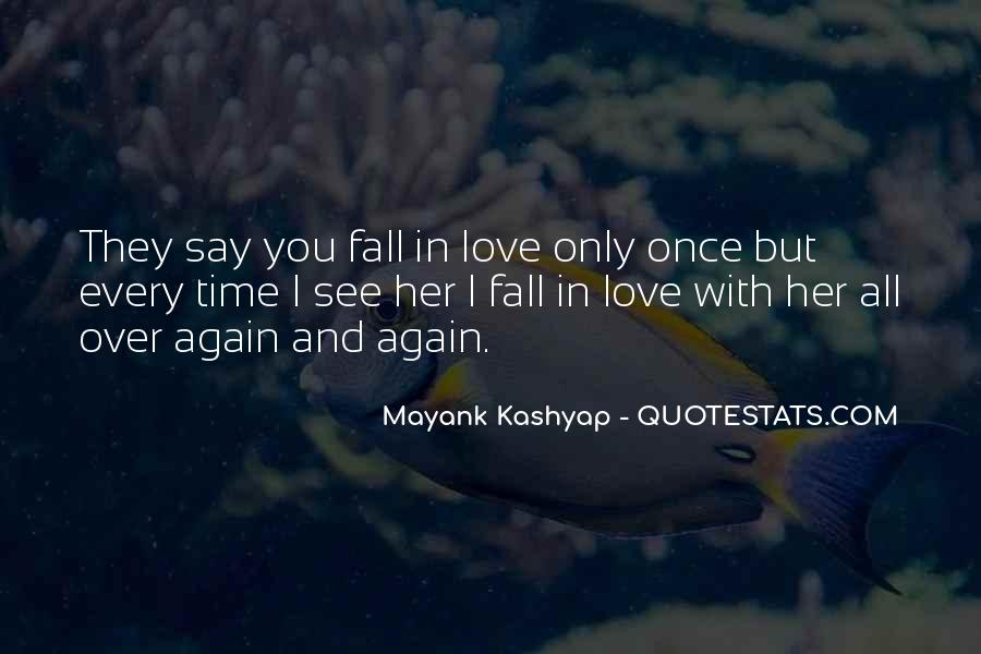 Once You Fall In Love Quotes #1373480