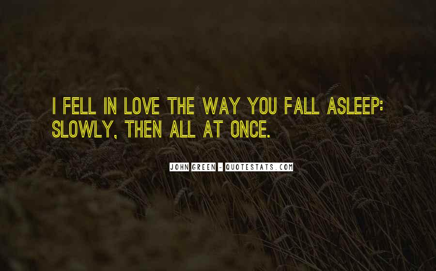 Once You Fall In Love Quotes #49325