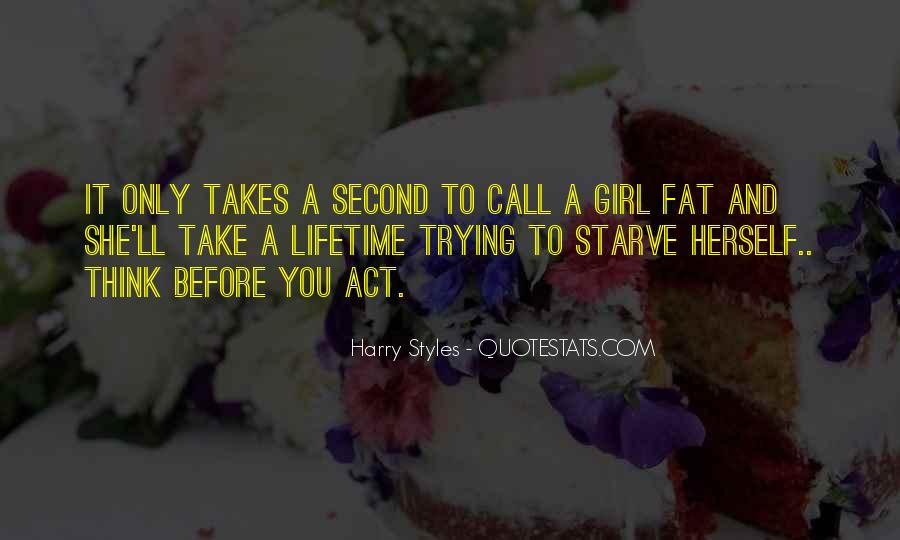 One And Only Girl Quotes #1759879