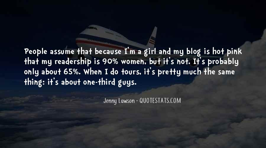 One And Only Girl Quotes #945838