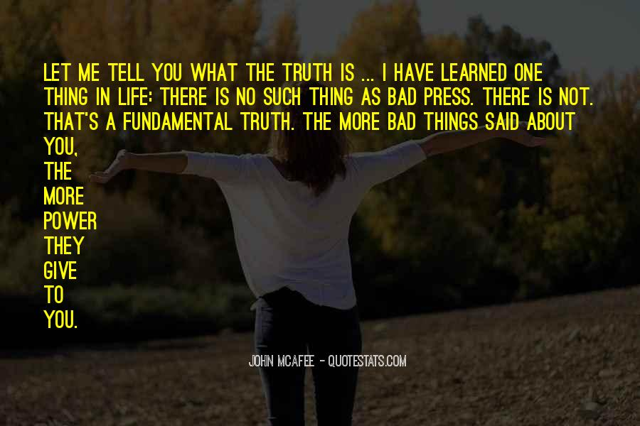 One Bad Thing Quotes #87313