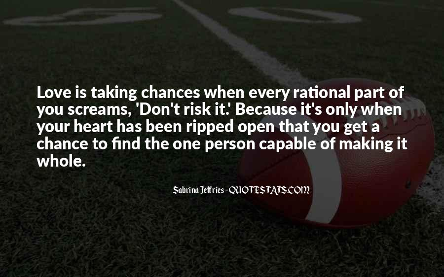 One Chance Only Quotes #454972
