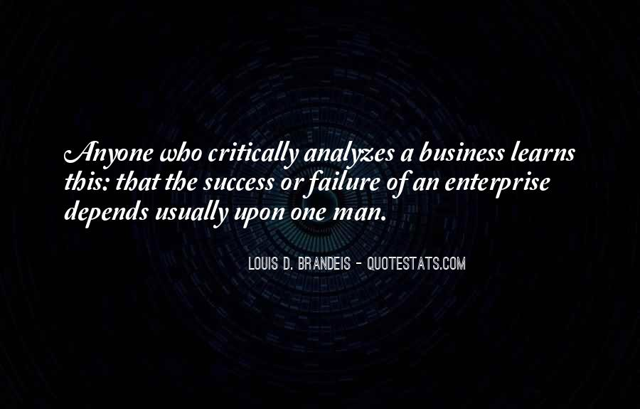 One Man Business Quotes #1367886