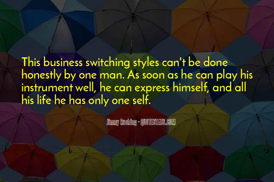 One Man Business Quotes #738795