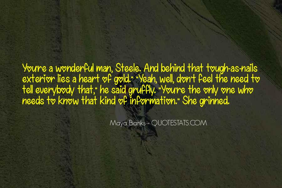 One Of A Kind Man Quotes #1794858