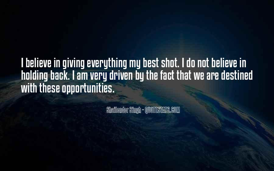 One Shot Opportunity Quotes #1786800