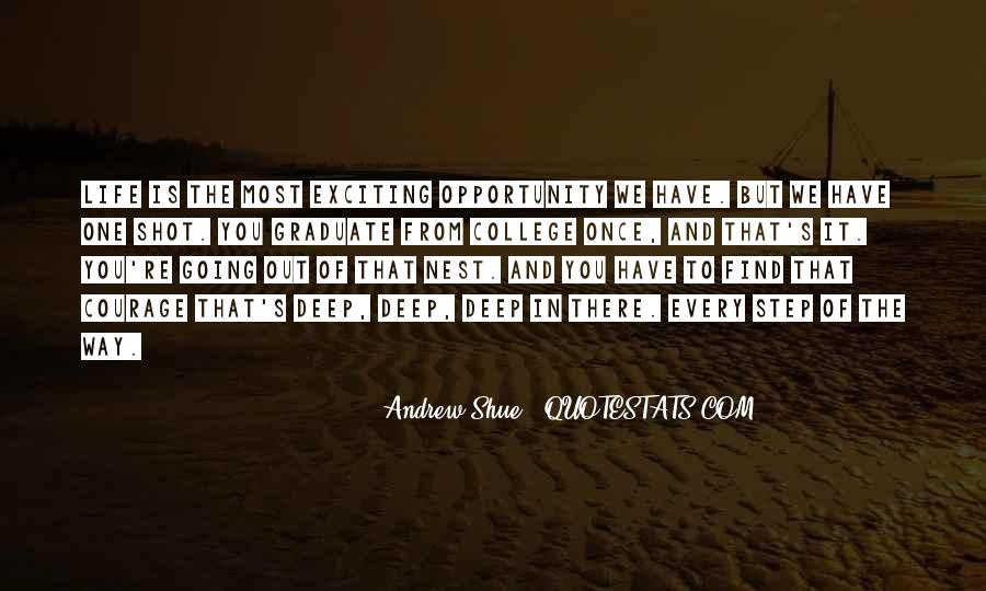 One Shot Opportunity Quotes #739460