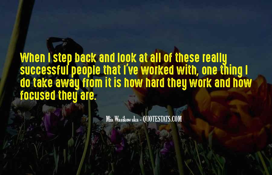 One Step Back Quotes #1178236