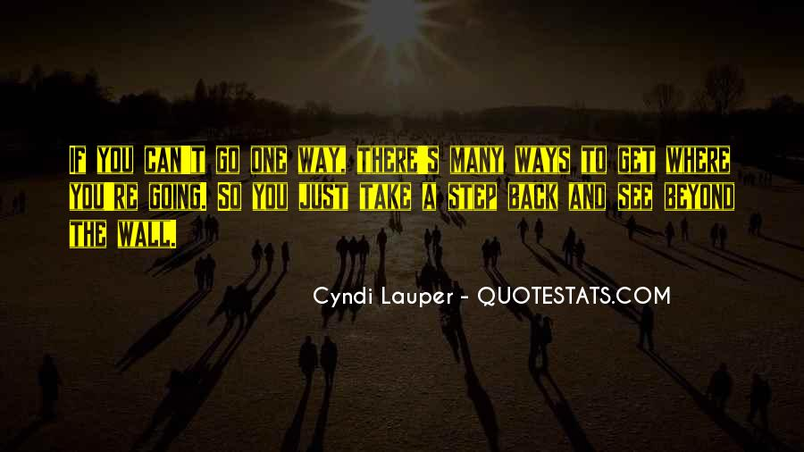 One Step Back Quotes #1309584
