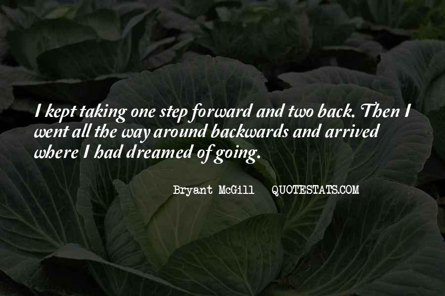One Step Back Quotes #1534987